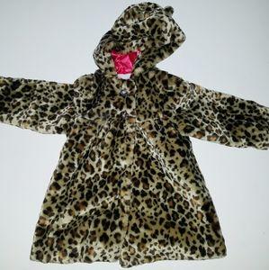 NWT Wonderkids Faux Fur Cheetah Print Coat